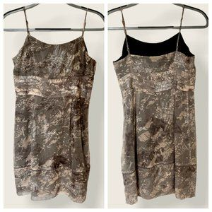 Juicy Couture Floral Shimmer Camo Spaghetti Dress